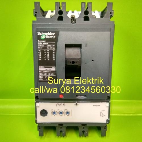 Foto Produk mcb mccb breaker schneider compact NSX400N 3P 400 amper 160/400A 50ka dari SURYA-ELEKTRIK