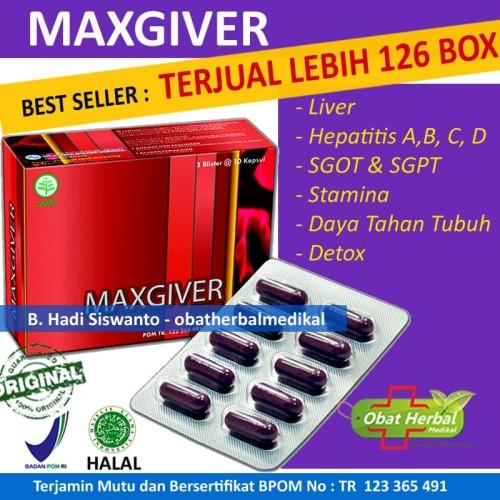 Foto Produk Obat Hepatitis Virus Hepatitis A, B, C D | Maxgiver 30 Kapsul dari Obatherbalmedikal