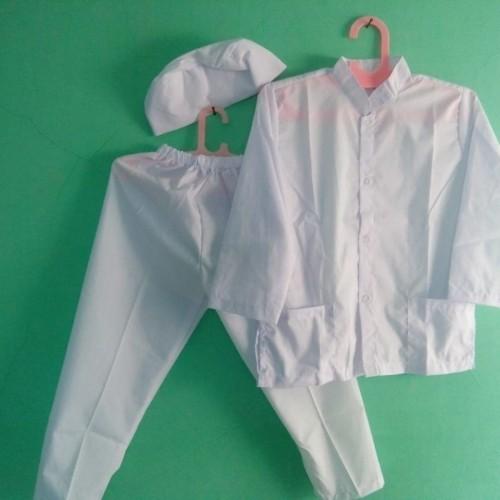 Foto Produk Baju Muslim |Baju Koko Anak Laki laki Warna Putih 4, 5 Tahun - Size 4 dari Zarka Baby Shop