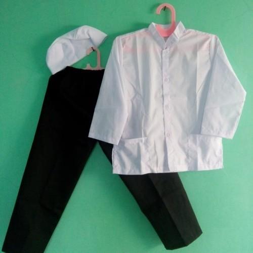 Foto Produk Baju Muslim  Baju Koko Anak 5, 6, 7 Tahun   putih hitam - Size 5 dari Zarka Baby Shop