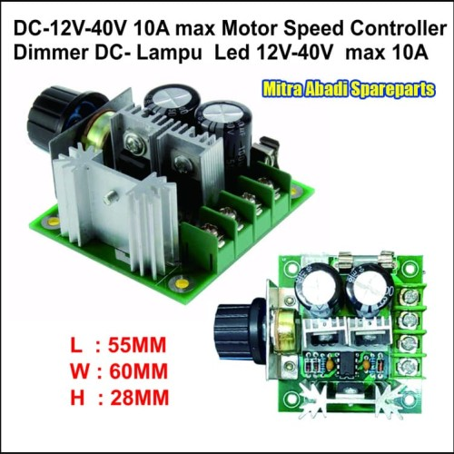 Foto Produk PWM SM490D Motor Speed Controller/Dimmer DC Lampu LED 12-40V 10A 400W dari Mitra Abadi Spareparts