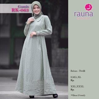 Foto Produk RAUNA RK 063 TOSKA - Hijau muda, S dari assalam busana