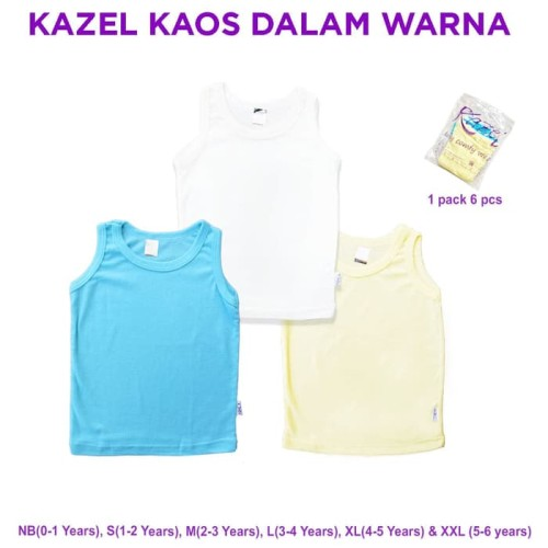 Foto Produk Kazel - Kaos Dalam Warna - NEWBORN dari Chubby Baby Shop