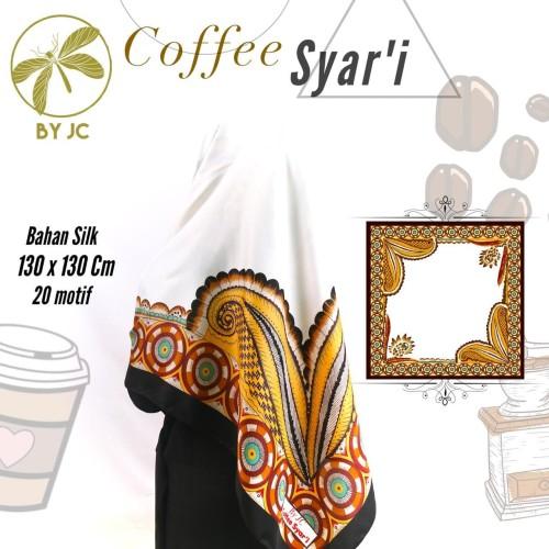 Foto Produk Jilbab Segiempat Coffee Syari D02 by JC dari Rizka Rizki Collection