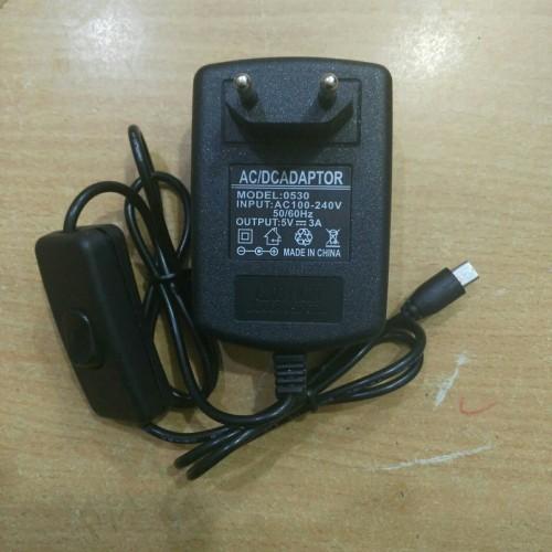 Foto Produk Power Supply 5V 3A Micro USB Raspberry Pi Adaptor 5V 3A on/off dari flipper