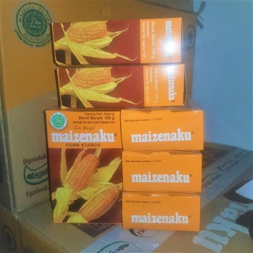 Foto Produk Tepung Jagung MAIZENAKU 100 gram Corn Starch maizena pati jagung 100gr dari Sinar Terang Regency