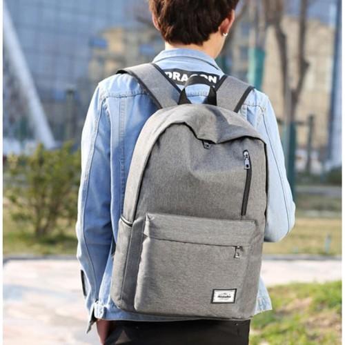 Foto Produk Tas Ransel Backpack dengan USB Charger Port - Space Gray - Hitam dari Rimas Technology