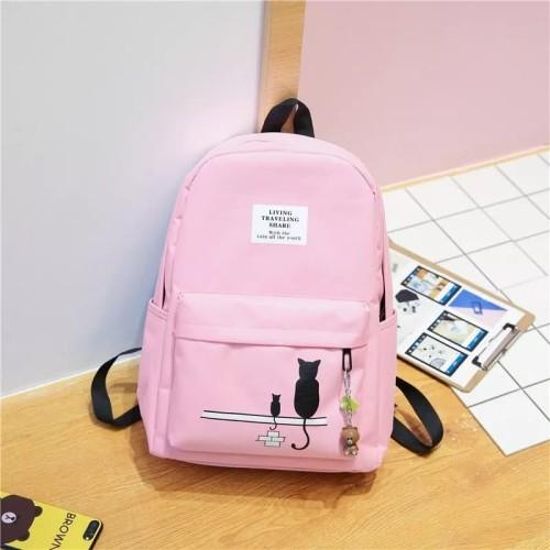 Foto Produk Tas / Tas wanita / Ransel / Backpack / Tas Sekolah / Tas Import -Dark - Merah Muda dari TAS AIR BONE