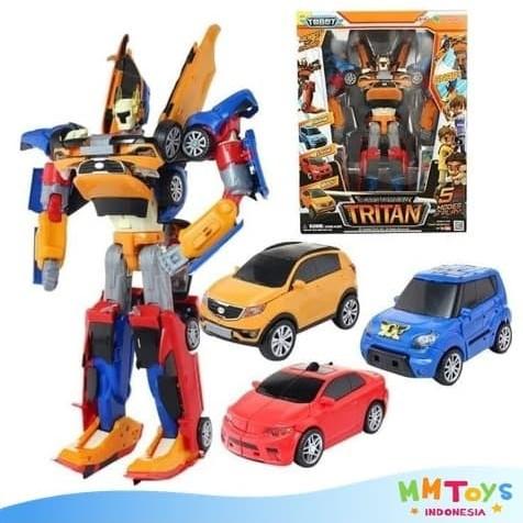 Foto Produk Tobot Tritan Orange Ukuran Besar Tinggi Robot 37cm Mainan Anak dari Mmtoys Indonesia