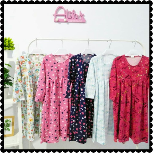 Foto Produk gamis anak, gamis kaos anak 4T, longdress anak, baju muslim anak dari storealifa