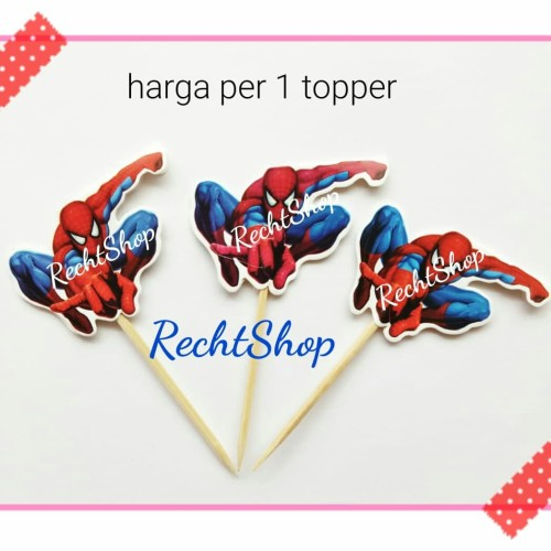 Foto Produk Topper cake kue ulang tahun karakter spiderman dari recht shop