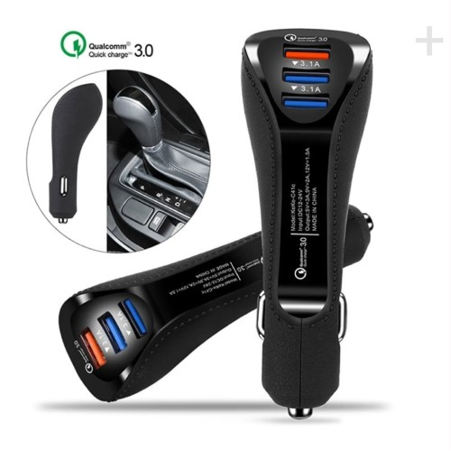 Foto Produk IONLINE Fast Car Charger 6A Qualcomm 3Port USB - Chader Mobil 3.1+3.1A - Hitam dari OMEXTRA