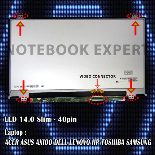 Foto Produk Layar Laptop, LCD, LED Asus X401U, X450C, X453M, A46C, A46S, A450C dari notebookexpert