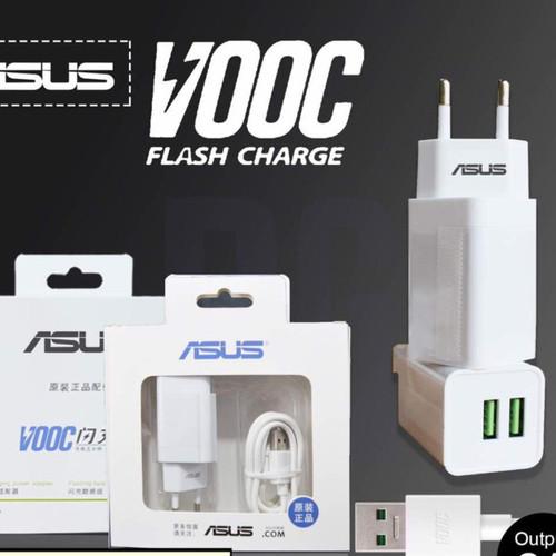 Foto Produk Charger ASUS VOOC FAST CHARGING Adaptor 2 Ampere 2 Port Usb ORI 99% dari KortingStore