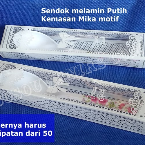 Foto Produk Souvenir Pernikahan / Sendok makan Melamin putih kemasan mika dari Bosouvenir com