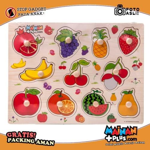 Foto Produk Mainan Edukasi Edukatif Puzzle Kayu Buah-buahan Tombol Kayu dari MainanPlus