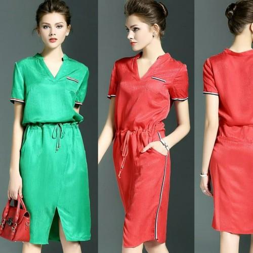 Foto Produk dress wanita casual - Merah dari ChooseMee
