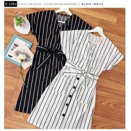 Foto Produk dress bahan katun printed wanita 1292 dari fany shp80