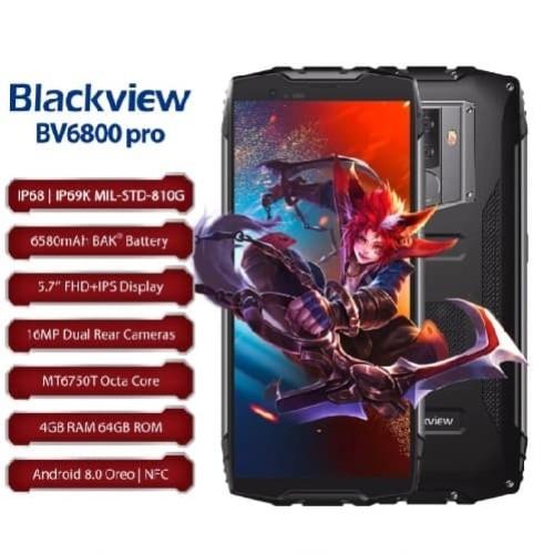 Foto Produk BLACKVIEW BV6800 PRO 64GB RAM 4GB IP68 IP69K Outdoor Smartphone - ORI dari T&T Mobile