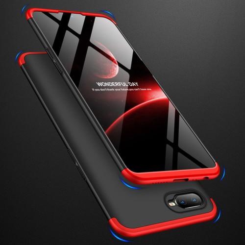 Foto Produk Oppo A7 360 protection slim matte case mix color - black red dari importking