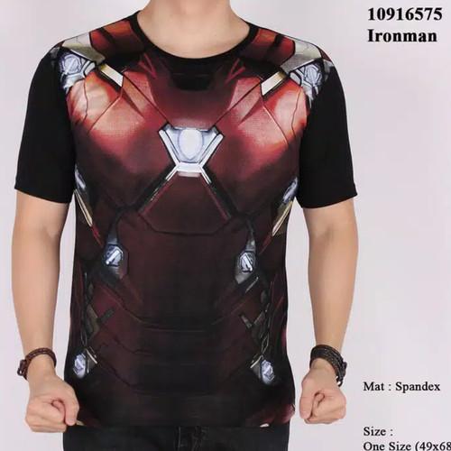 Foto Produk Kaos Superhero Ironman Kaos Superhero Batman Spiderman Spandex dari White Market Shop