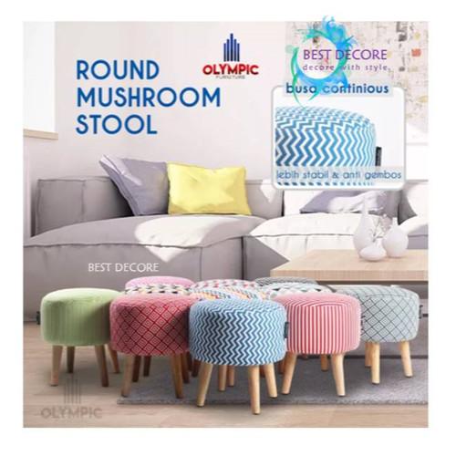 Foto Produk Mushroom Stool- Kursi Sofa Bundar dari Best Decore