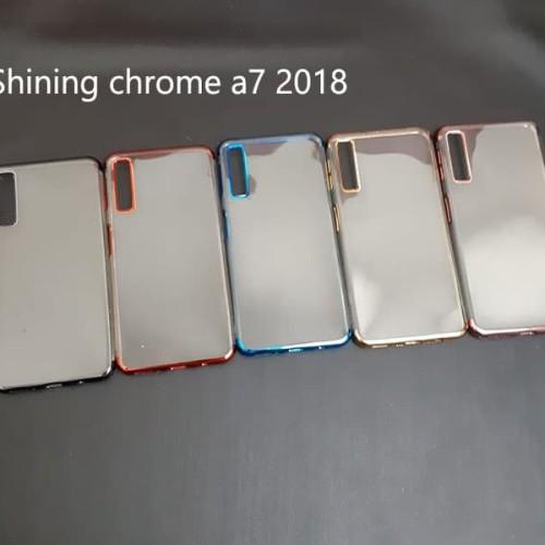 Foto Produk Samsung galaxy A7 2018 SHINING CHROME TPU CASE CLEAR Silicone Case dari importking