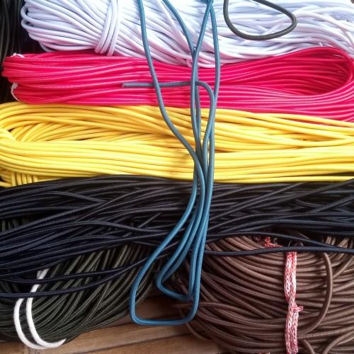 Foto Produk tali string cord-elastis bulat ukuran 4 mm meteran dari Gudang BahanBaku