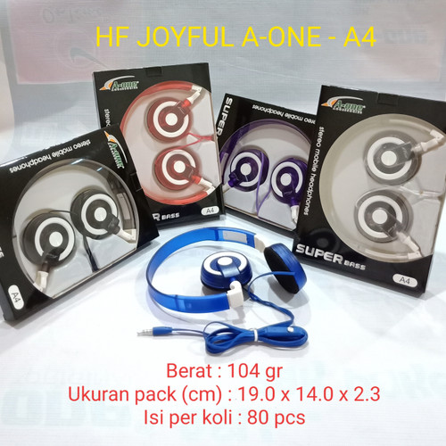 Foto Produk Handfree / Handsfree / Earphone / Headset Bando Joyful A4 dari juragan kado