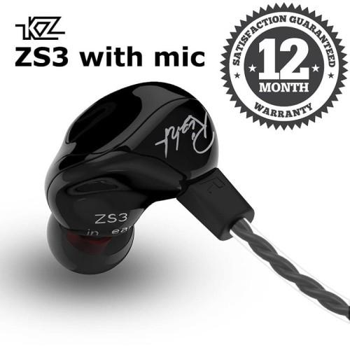 Foto Produk Knowledge Zenith KZ ZS3 In Ear Earphone - Hitam dari Knowledge Zenith Store