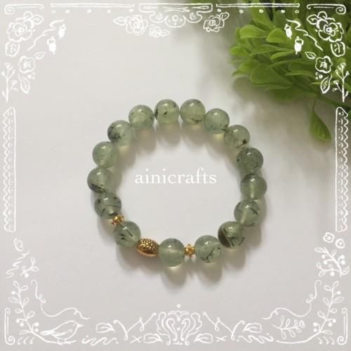Foto Produk Gelang Batu Green Garnet 10 mm dari Aini Crafts