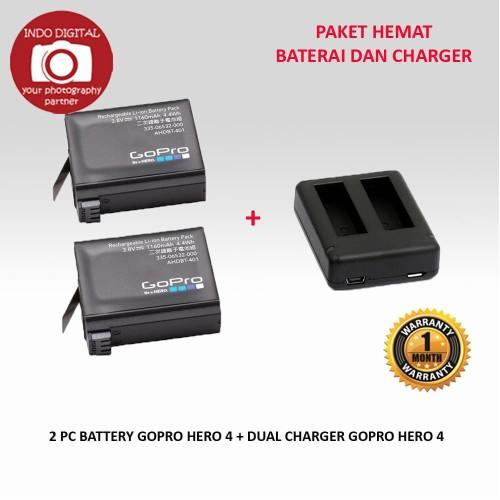 Foto Produk PAKET DUAL CHARGER GOPRO 4 + 2 BATERAI GOPRO 4 dari Indo Digital Nusantara