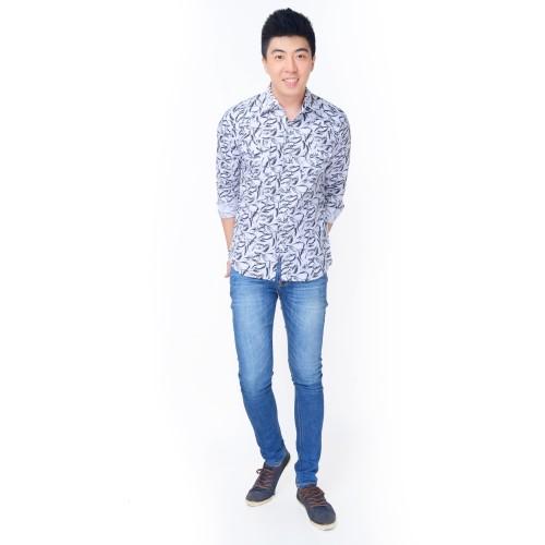 Foto Produk Kemeja Strech Lengan Panjang Pria Model terbaru - Jfashion Uno - Hitam, XL dari j--fashion