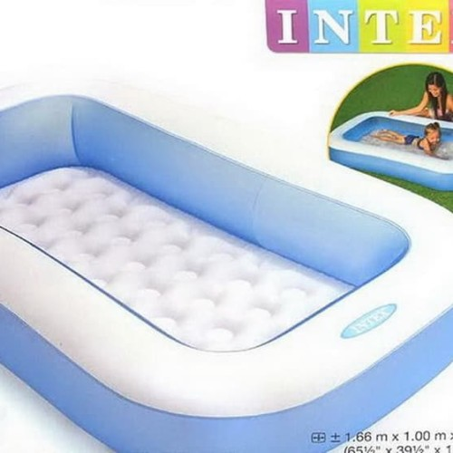 Foto Produk Mainan Anak - Kolam Renang Intex Pool Besar 166 x 100 x 28 Cm Biru dari Toko DnD