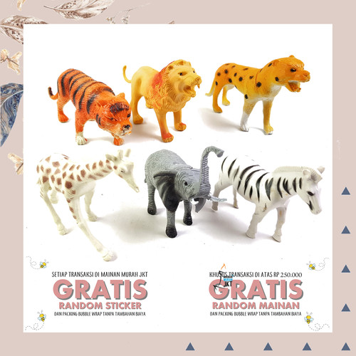 Foto Produk MAINAN ANAK FIGURE BINATANG ANIMAL WILD SERIGALA HEWAN KARET MINIATUR dari mainanmurahjkt