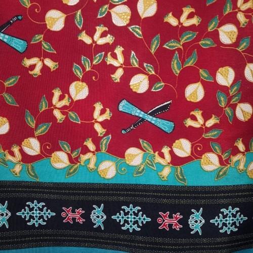 Foto Produk kain Batik Ambon Pala cengkeh merah maron dari tokokoko