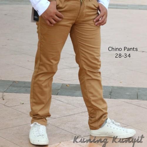 Foto Produk Celana Chino Panjang Pria Warna Kuning kunyit dari oxo shop