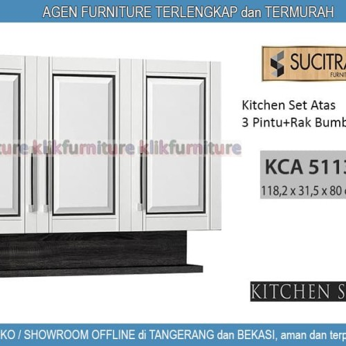 Foto Produk KCA 5113 Sucitra Kitchen Set Atas 3 Pintu dari klikfurniture