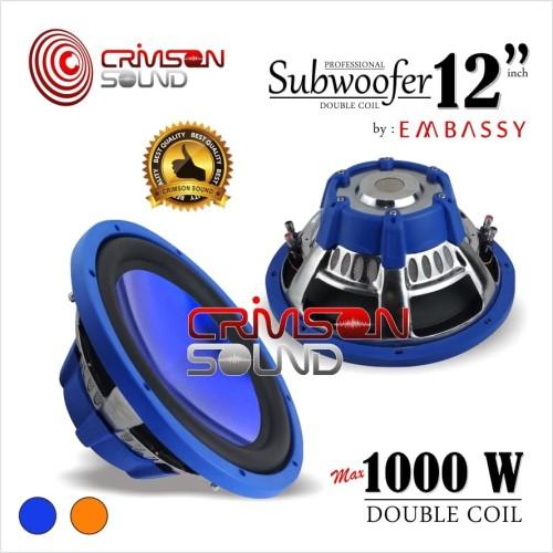"Foto Produk Embassy EY -128 Blue Subwoofer 12"" dari Crimson Sound"