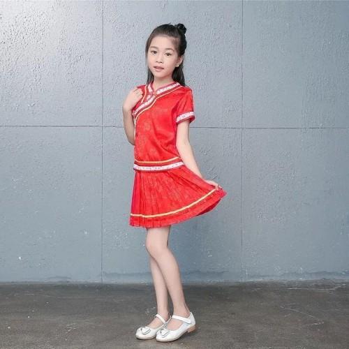 Foto Produk Cheongsam Anak Saten China Kostum Dress Baju Imlek Anak Murah - Pink Tua, 4 dari MadisonShop