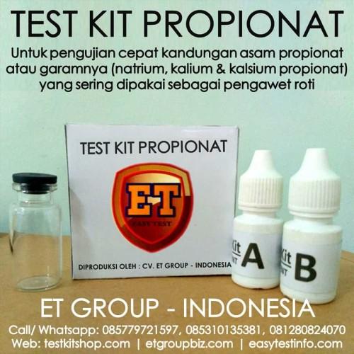 Foto Produk Test Kit Propionat - Propionate Testkit - Teskit untuk Pengawet dari Sooper Shop