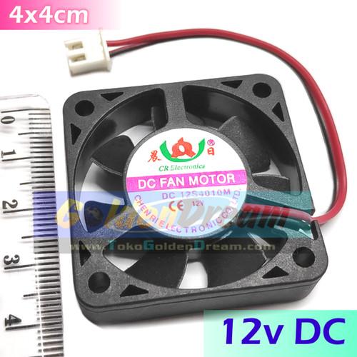 Foto Produk Kipas 12v 4x4cm DC Mini Fan Angin Udara Pendingin Panas 4x4 4*4 cm 4cm dari VISITEK