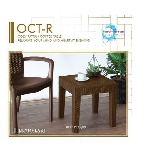 Foto Produk Olymplast Corner Table Rotan - OCT-R Meja Teras dari Best Decore