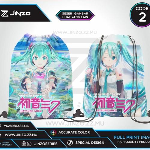 Foto Produk Tas Serut Vocaloid Hatsune Miku Terbaru - Code Satu dari Jinzo Series
