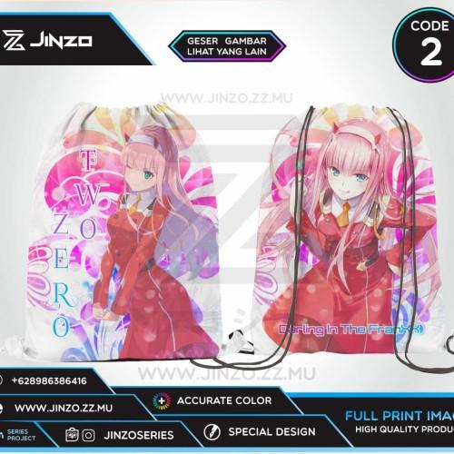 Foto Produk Tas Serut Darling In The FranXX Zero Two Ichigo - Code Satu dari Jinzo Series