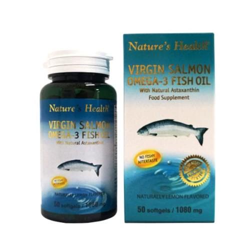 Foto Produk NATURES HEALTH VIRGIN SALMON OMEGA 3 LEMON 50 CAP / Omega 3 dari CENTURY HEALTHCARE