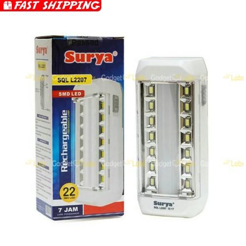 Foto Produk Lampu LED SURYA SQL L2207 Portable Emergency Lamp dari Gadget Labs