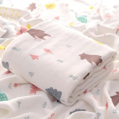 Foto Produk Kain Selimut Bamboo Muslin Blanket Baby Hoppipollakids - Mountain Bear dari Hoppipollakids