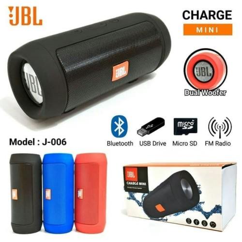 Foto Produk Portable Speaker Bluetooth Music Box JBL Wireless Charge Mini J006 - Biru dari Jess grosir accessories