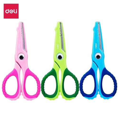 Foto Produk DELI Soft-touch Croco Scissors 134mm Safe [E6071] - Gunting anak dari Deli Stationery